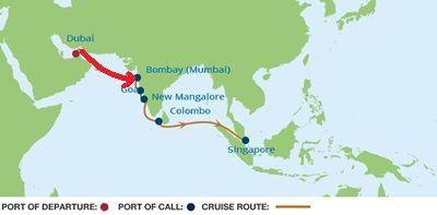 2015. 04. 07-08-09   A dubai-i meleg és kirándulás után elég későn ébredtünk. Nem kell sehova sietnünk, hiszen 3 napig csak a tengeren hajózunk, kikötés nélkül, hiszen a következő úti célunk Mumbai (korábbi nevén Bombay), Indiában.     Akkor van bőven időnk, nézzük először, milyen is a hajó, amelyikkel utazunk.  ...