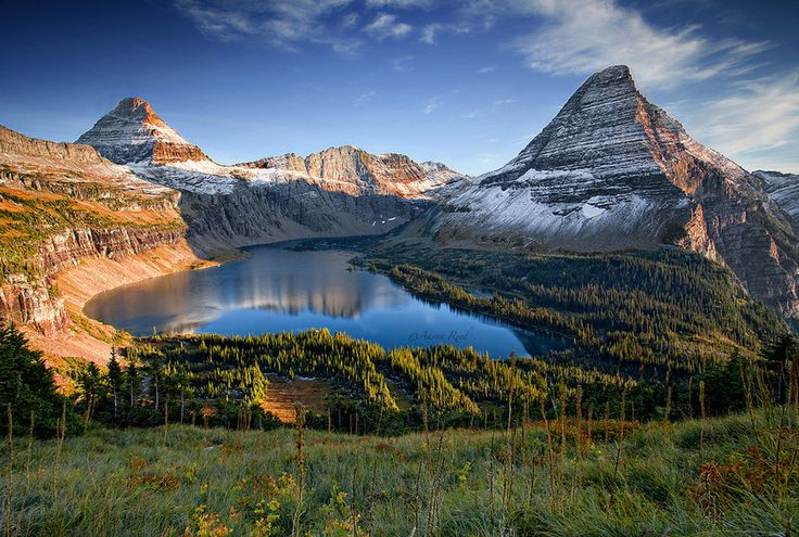 Hidden Lake, Glacier National Park.  Montana.  by Aaron Reed.