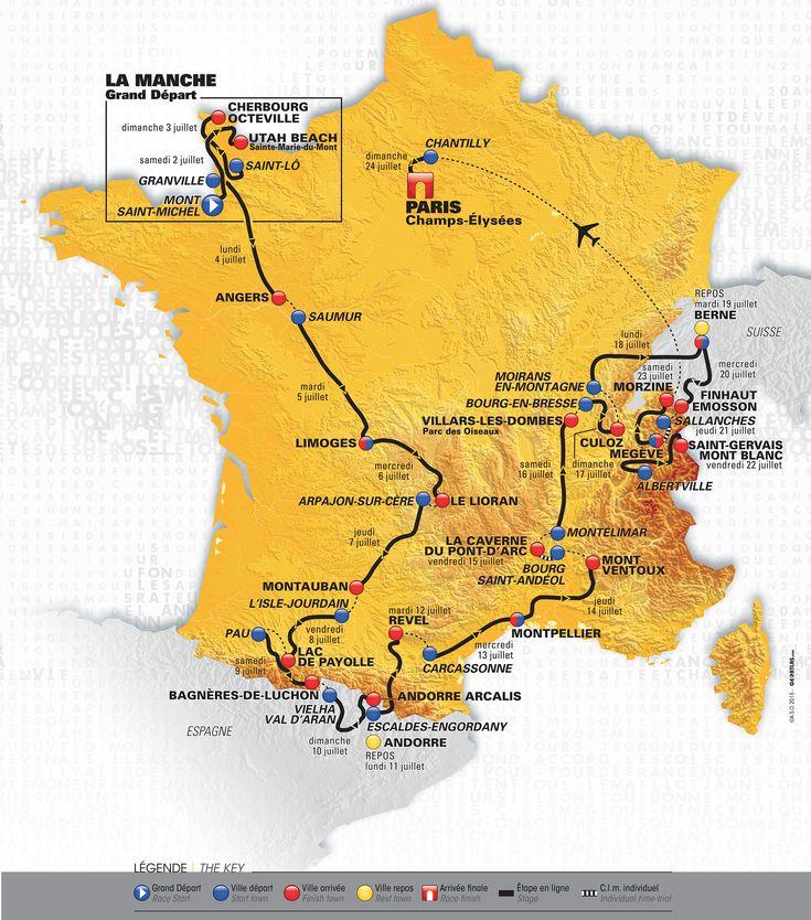 Rendez-vous le 5 juillet dans la #Vienne. Tour - Découvrez le parcours du Tour de France 2016