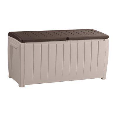 Keter Novel 90 Gallon Plastic Deck Box Color: Beige/Brown – Products