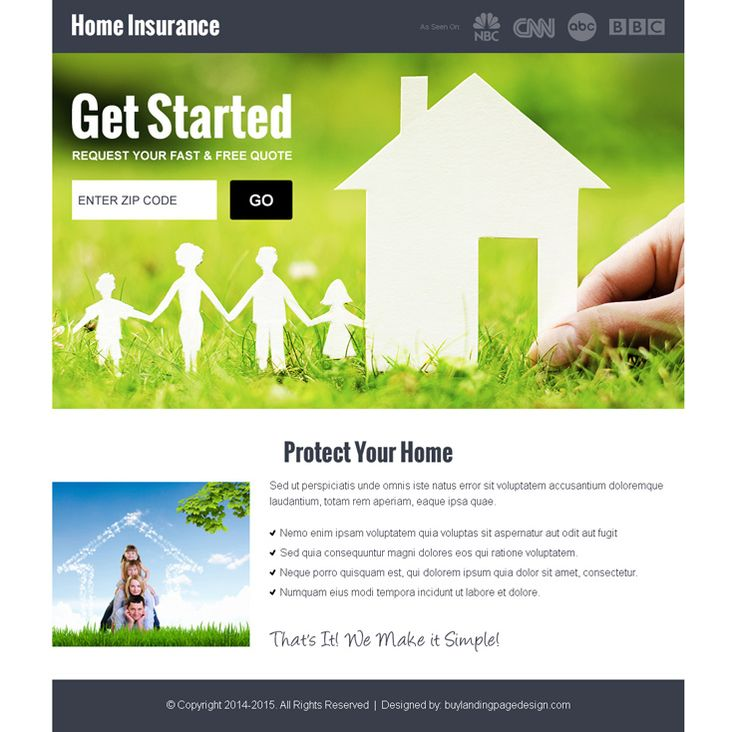 home insurance by zip code responsive landing page design. beautiful ideas. Home Design Ideas