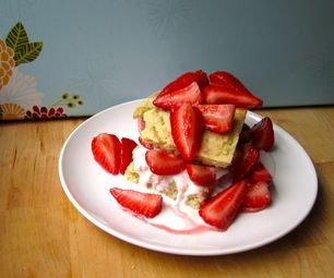 easy vegan strawberry shortcake, try halving the recipe and microwaving the cake instead