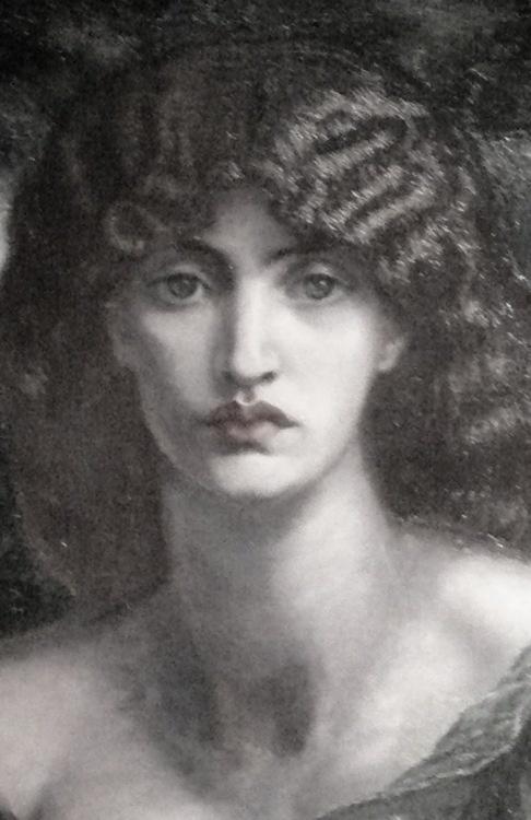 Mnemosyne (detail), Dante Gabriel Rossetti, ca. 1881