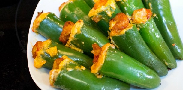 Crawfish and Cheddar Stuffed Jalapeno Poppers.  I think wrapping them in bacon would be a great upgrade, but that's always true.