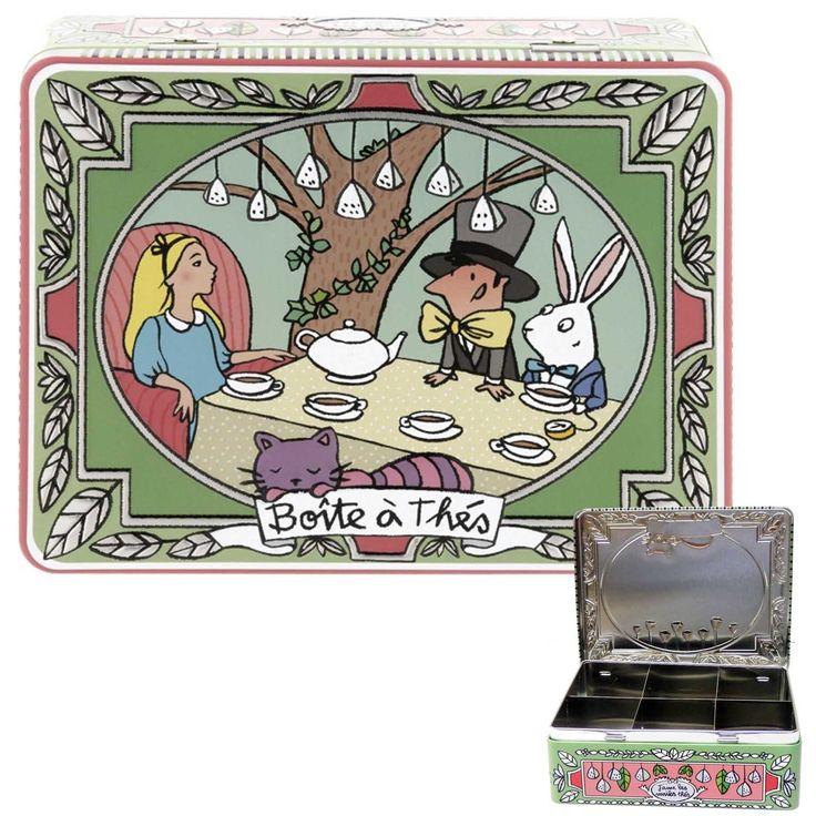 DERRIERE LA PORTE  Scatola Porta The 6 Scomparti Alice  Dimensioni: 20.5Lx14.5Px7H cm
