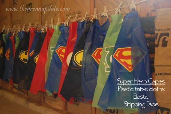 Easy DIY Superhero Capes | Budget Birthday Favors via Pretty My Party