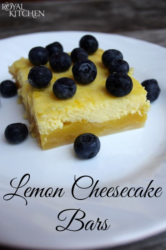 Lemon Cheesecake Bars ~ The shortbread crust is topped with a layer of refreshing lemon and a layer of creamy cheesecake.  It is absolute perfection!