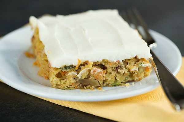 Carrot-Zucchini Bars with Cream Cheese Icing by @Michelle (Brown Eyed Baker) :: www.browneyedbaker.com