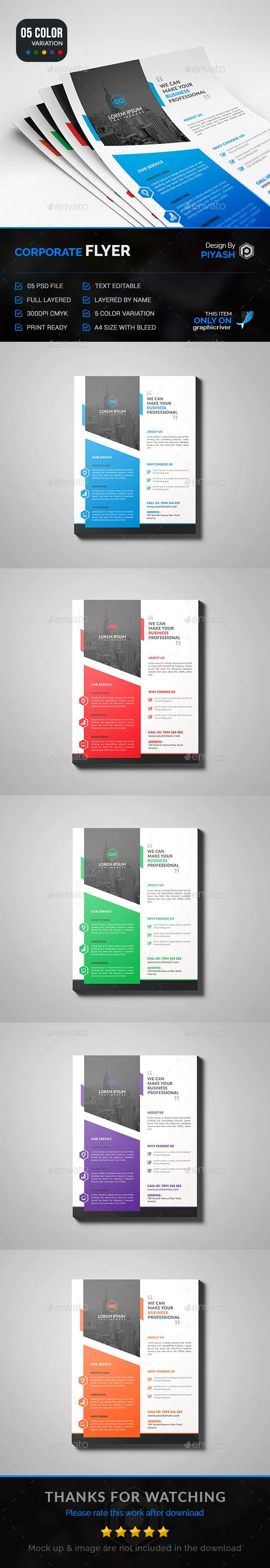 Corporate Flyer Template PSD. Download here: http://graphicriver.net/item/corporate-flyer/15009753?ref=ksioks