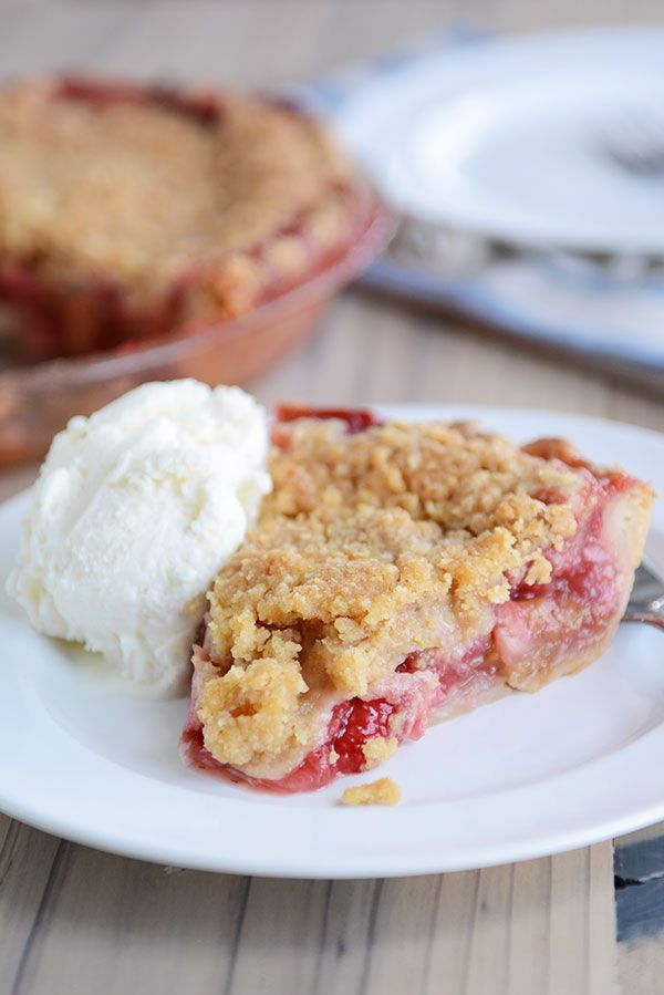 This best-ever strawberry rhubarb pie is filled to brimming with juicy, sweet strawberries, tart rhubarb, and the most delectable, buttery streusel topping.