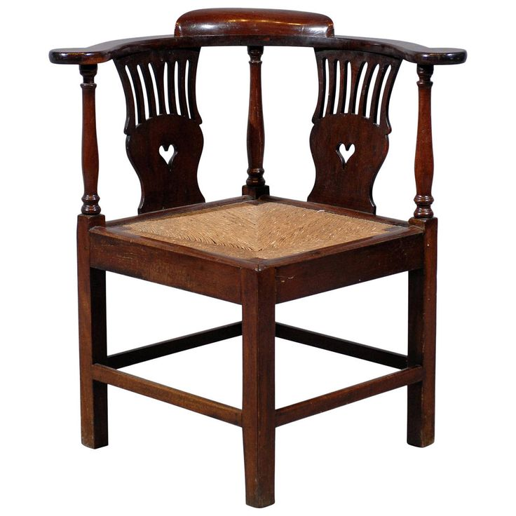 Large 18th Century English Corner Chair with Rush Seat - 88 Best Corner Chairs Images On Pinterest Corner Chair, Antique
