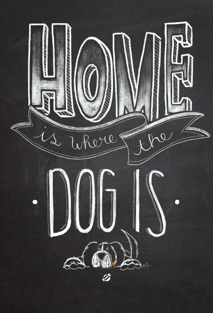 Home is where the dog is- Free Printable - Personal Use Only. #freeprintables #freeprintable