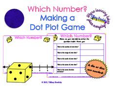 Dot Plot Graphing and Worksheet Activity (or Game) from Tiffany Brodsky on TeachersNotebook.com -  (9 pages)  - This is an activity which you can simply print and set in a math center or give as an activity as long as you have taught the mean, median, range, and mean absolute deviation.