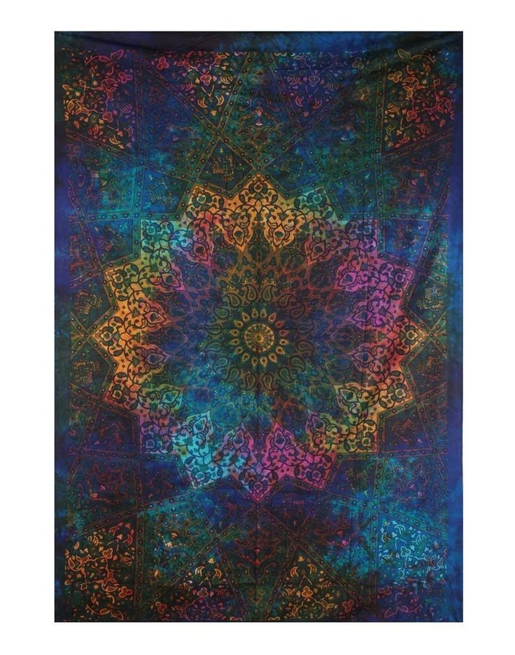 """85x55"""" MultiColor Ombre tapestry Wall Hanging Indian"""