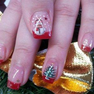 Glittery & Colorful Christmas Nail Art