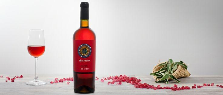Eos Vino rosato ottenuto da uve Negroamaro, di colore rosa chiaretto, profumo fruttato con note di fragola e ciliegia, sapore asciutto e giustamente acido. http://hitany.it/it/prodotti/vino/eos-negroamaro-igt-30