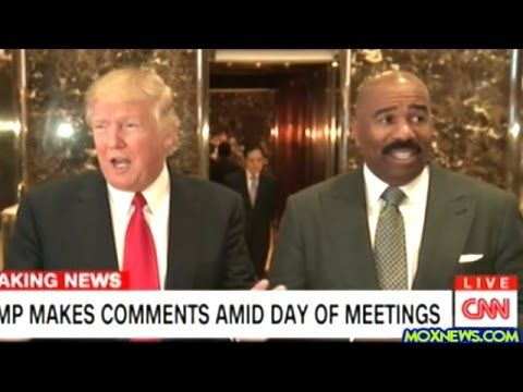 After Meeting With Donald Trump Steve Harvey Steps Up To The Mic At Trum...