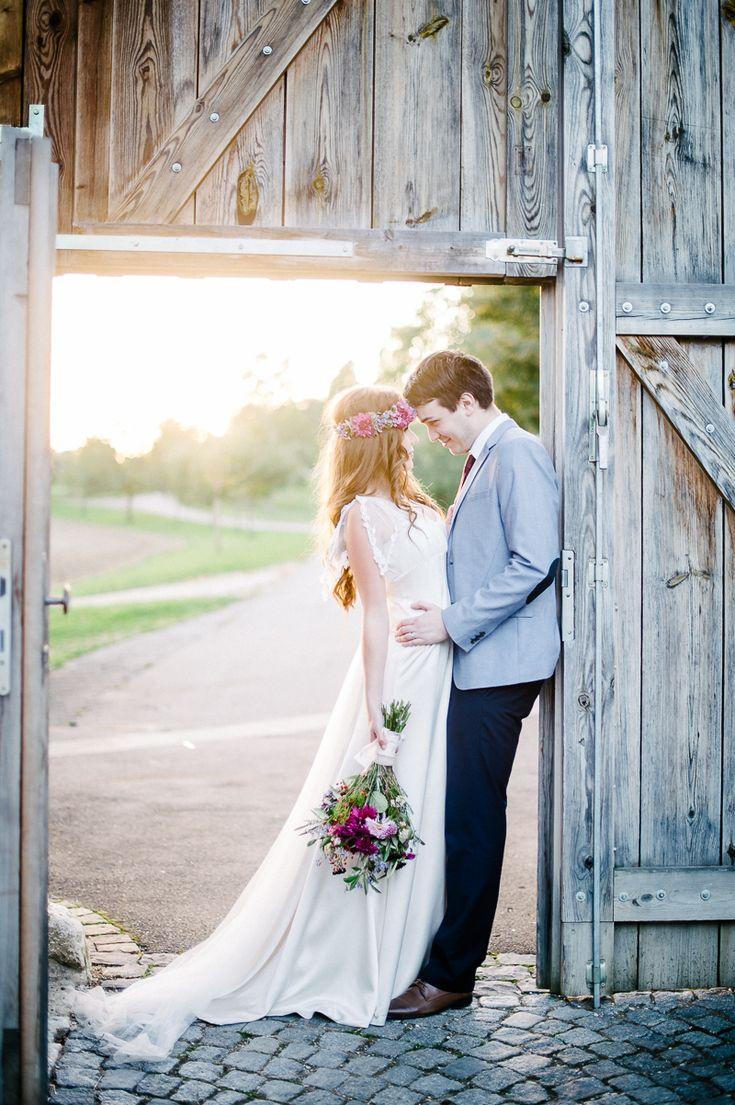 Hochzeitsfotografie, Brautpaar, Sonnenuntergang