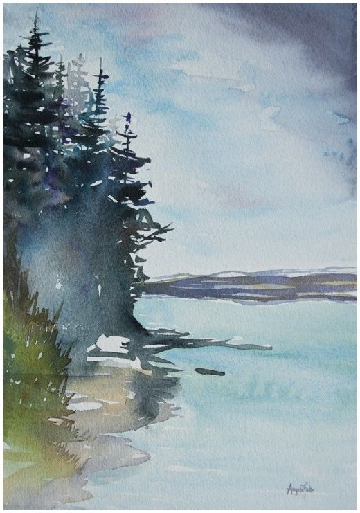 It took seven paintings to get this finished watercolour painting by Angela Fehr - see them all on her site: http://angelafehr.com