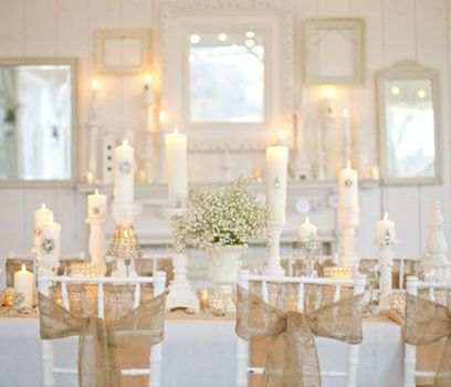 DIY burlap bows: Chairs Sash, Tables Sets, Rustic Charm, Rustic Chic, Baby Breath, Burlap Chairs, Burlap Bows, Bling Wedding, Burlap Wedding