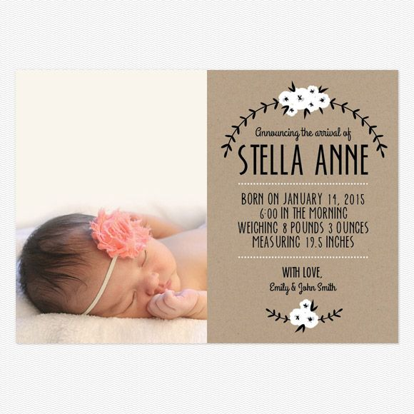 1000 images about Birth Announcements – Inexpensive Birth Announcements