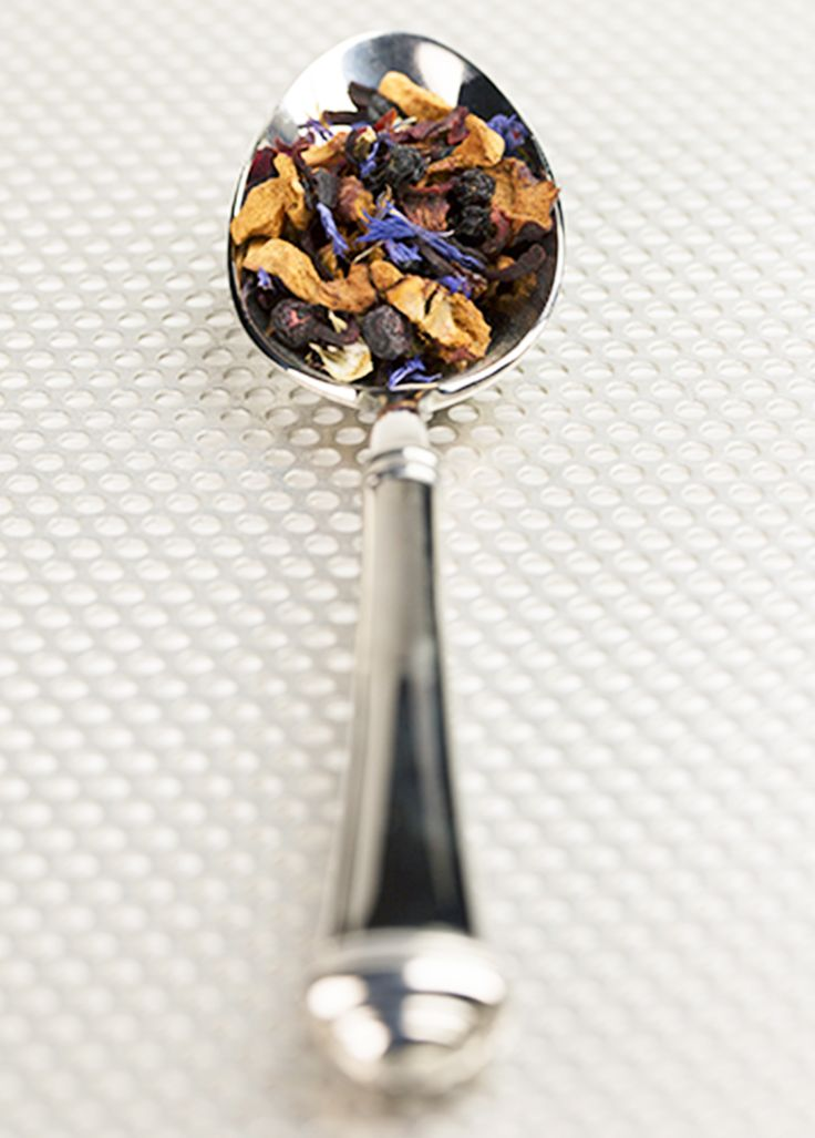 Tea, silver spoon