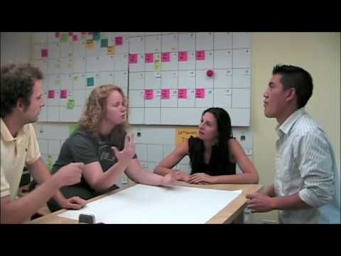 """Fun """"How not to brainstorm and how to brainstorm video"""" created by Stanford Design School students"""