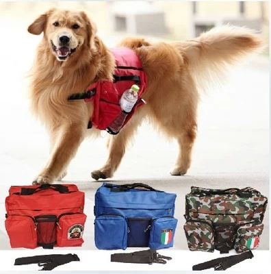 Free shipping,Functional large Dog Backpack 4 color outdoor dog carriers bags with big pockets