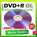 15 Dvd´s Doble Capa imprimibles (DVD9) dvd+r dl Virgen sony 8.5 Gb / 215min