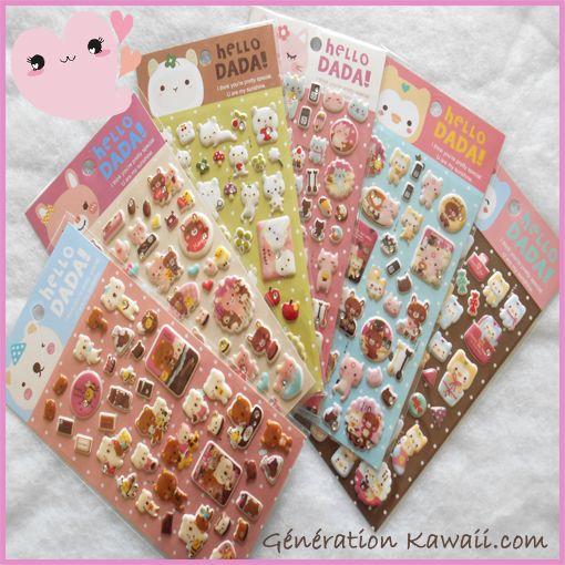 Stickers kawaii 3D sur Génération Kawaii.com