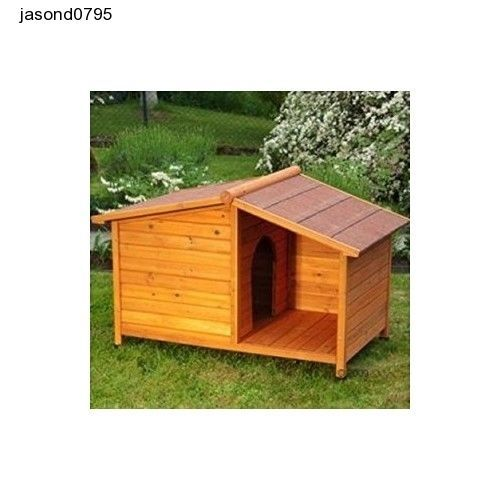 Small Dog Kennel Wooden Outdoor Kennels Shelter Weather Proof Winter Cage Bed