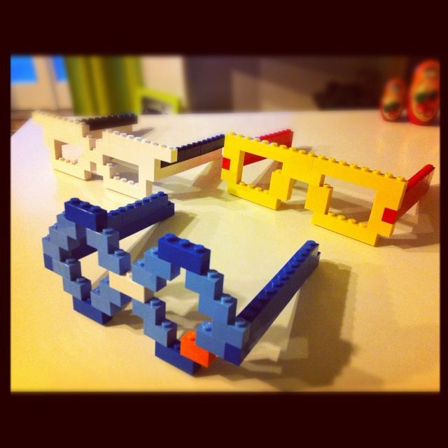 Lego glasses...hehehe we'll have to make this :)
