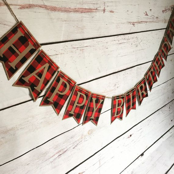 Lumber Jack birthday party, buffalo plaid birthday, boys first birthday, country birthday, rustic birthday, woodland party, woodland