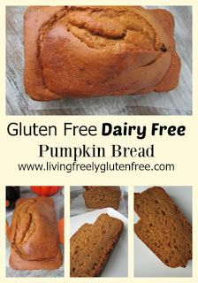 Gluten Free, Dairy Free Pumpkin Bread. Delicious and a simple recipe with simple…