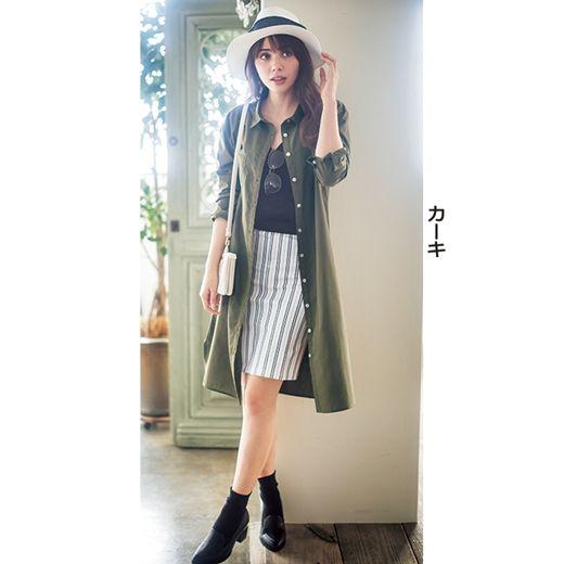 ロングシャツワンピース通販│ファッション通販RyuRyu