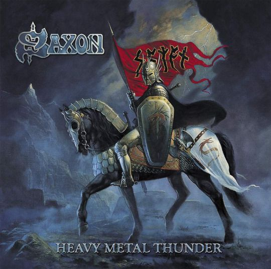 Cover art by Paul Raymond Gregory Saxon - Heavy Metal Thunder (2002).