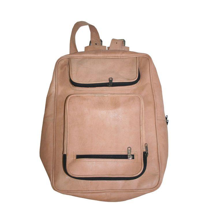 Men's Handmade Vintage Leather Rucksack Backpack Shoulder Bag College Book Bag #Handmade #Backpack