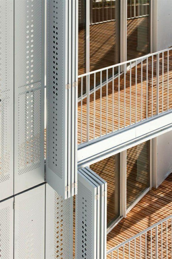 außen architektur balkon seitensichtschutz zeitgenössisch modern