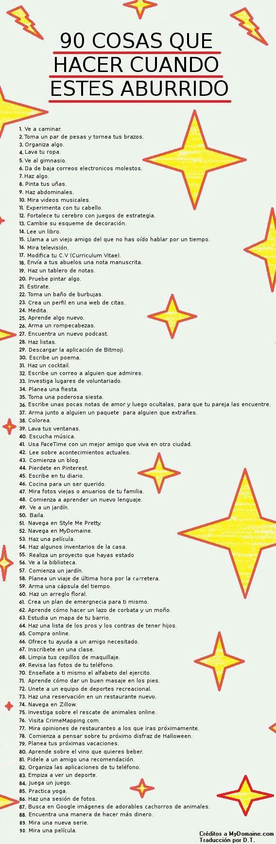 90 cosas que hacer cuando estas aburrido (es español)