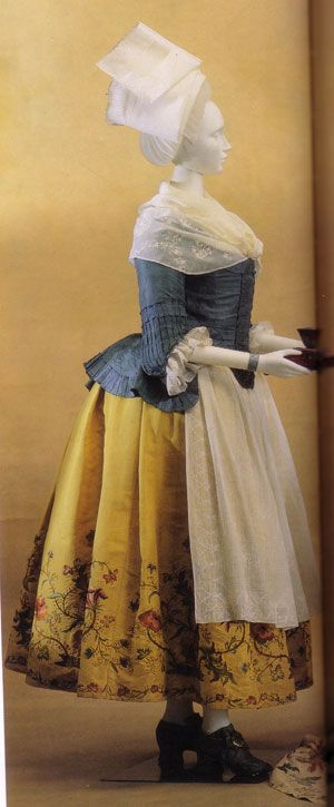 Pierrot jacket and embroidered petticoat, Kyoto Costume Institute, c. 1780
