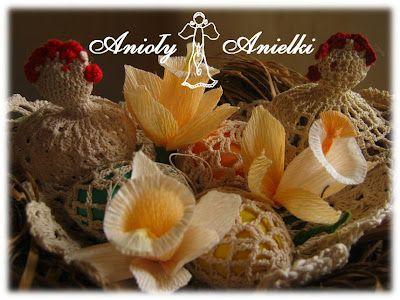 Anioły Anielki: Dekoracje Wielkanocne i wiosenne