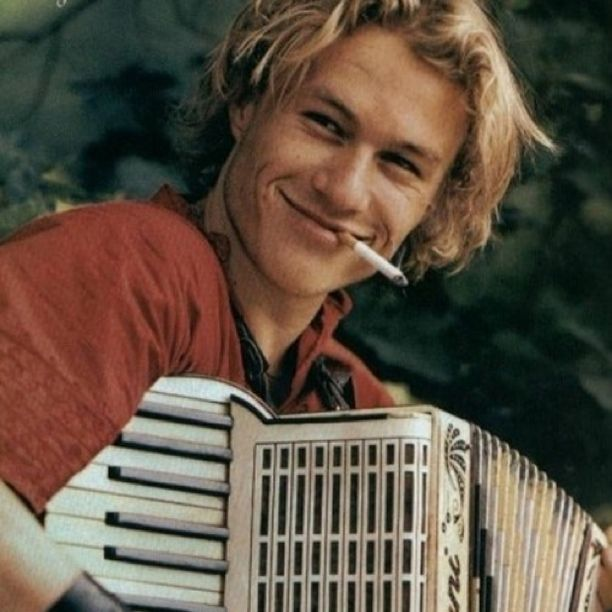 Heath Ledger - taken while filming A Knight's Tale in 2000