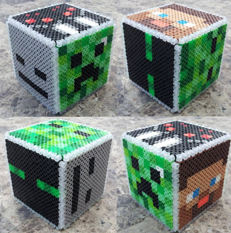 Bought Perler beads and Minecraft for the kids, but they aren't the only ones to play...