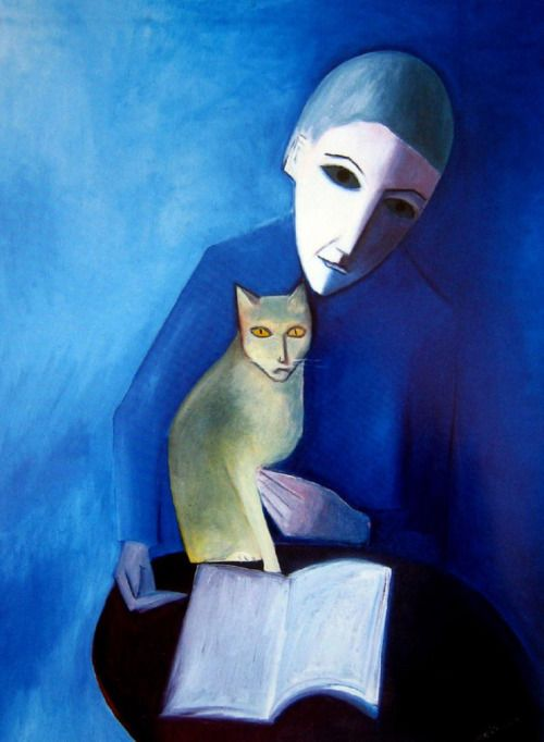 Robert Dickerson ~ Girl and Cat