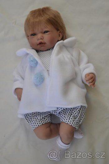 Realistické miminko - chlapeček Adrián v puntíkatých kalhotk - 1