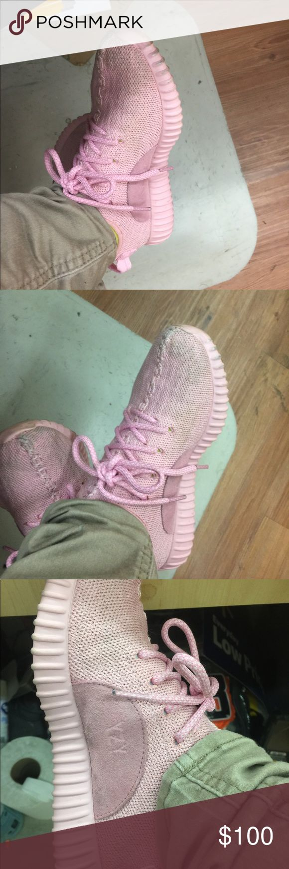 Pink yeezy boosts Pink addidas yeezy boosts need to me washed, only worn a few times Yeezy Shoes Sneakers