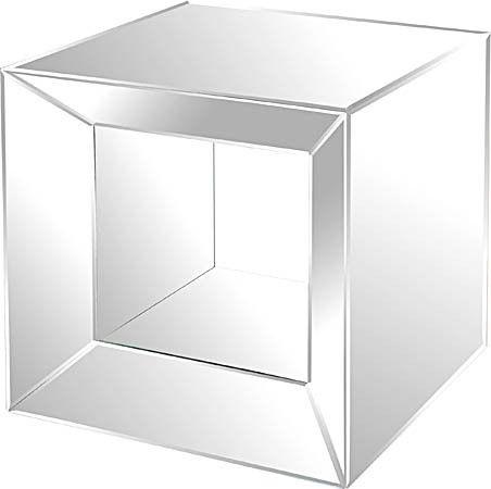 Ren-Wil Sleek Mirrored Table TA010   Bathrooms Decor and More     Bathrooms Decor And More