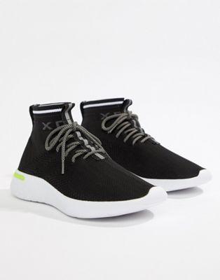 Черные кроссовки с вязаным верхом Pull Bear  c7676251c