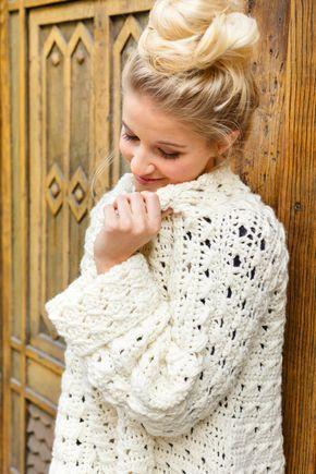 Hygge Long Pulli Im Lochmuster Häkeln Pinterest Knitting