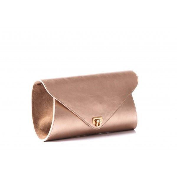 VEROGIA Golden Clutch Bag